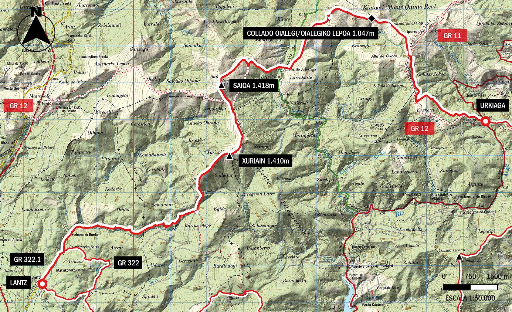 gr322 Mapa topográfico etapa 2